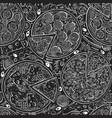 italian pizza seamless pattern hand drawn vector image vector image