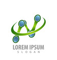 logo concept design technology initial letter n vector image vector image