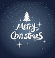 merry christmas icon calligraphic text design vector image