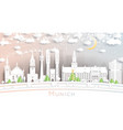 munich germany city skyline in paper cut style vector image vector image
