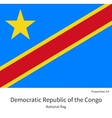 National flag Democratic Republic of the Congo vector image vector image