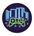 neon video game vector image vector image