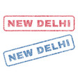 new delhi textile stamps vector image vector image