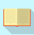 opened book icon flat style vector image vector image