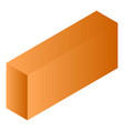 orange tea box icon isometric style vector image vector image