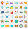 paid delivery icons set cartoon style vector image vector image