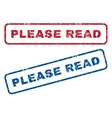 Please Read Rubber Stamps vector image vector image