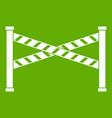 police line icon green vector image vector image