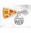 poster aroma pizza poster aroma pizza vector image vector image
