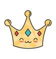 Queen crown kawaii character