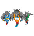 rhinos runners colored mascot logo premium vector image vector image