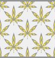 seamless pattern marijuana leaf or cannabis leaf vector image