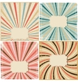 set 4 vintage lines background on paper texture vector image vector image