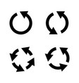 set black circle arrows icons vector image vector image