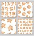 set of cartoon ginger bread cookies hand drawn vector image vector image