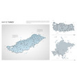 set turkey country isometric 3d map turkey map vector image