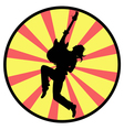 silhouette of a man with guitar vector image vector image