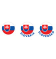 slovakia coat arms in circle version with name vector image