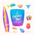 Summer elements Isolated vector image