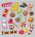 Sweets food candies stickers patches badges