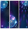 three vertical disco backgrounds vector image vector image