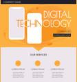 trendy advertising smartphone landing page mockup vector image vector image