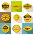 Types tag icons set flat style vector image