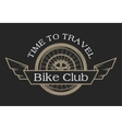 Vintage emblem on the topic cycling club vector image vector image