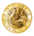 vintage golden watch vector image