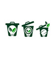 waste bag solution vector image vector image