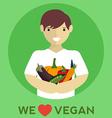 We love vegan vegan food vector image