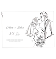 Wedding Day invitation with sweet couple vector image