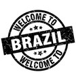 welcome to brazil black stamp vector image vector image