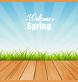 welcome to spring background vector image vector image