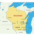 Wisconsin - map vector image