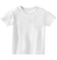 white t-shirt design template vector image