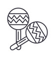 maracas line icon sign on vector image