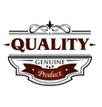 Quality genuine product banner vector image