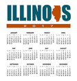 2017 Illinois calendar vector image