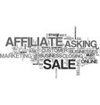 affiliates should ask for the sale text word vector image vector image