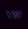 alphabet letter combination vs v s logo company vector image vector image