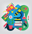 back to school concept biology vector image vector image