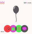 balloon symbol icon vector image