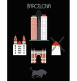 Barcelona city vector image
