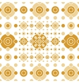 Beige and gold circles and squares vector image vector image