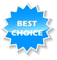 Best choice blue icon vector image vector image