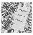 Best Ways To Make Money Online Word Cloud Concept vector image vector image