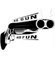 black and white shotgun vector image vector image