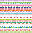 border patterns vector image vector image