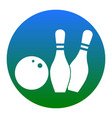 bowling sign white icon in vector image vector image